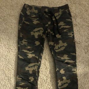 Camouflage joggers never worn